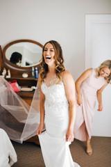 Maryanne in custom Jennifer Go Bridal