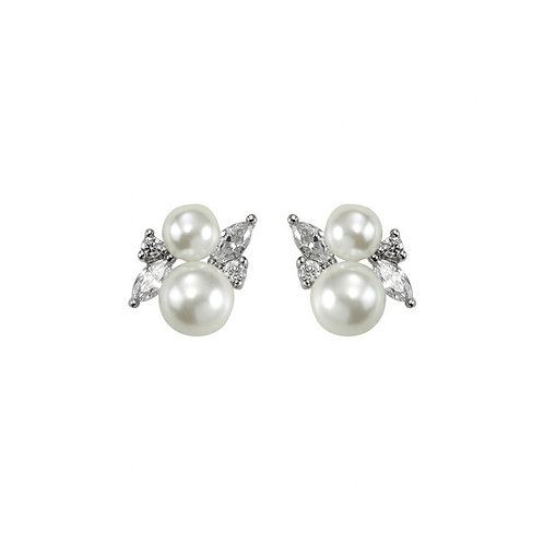 Orchids Silk Pearl Stud Earrings - Samantha Wills