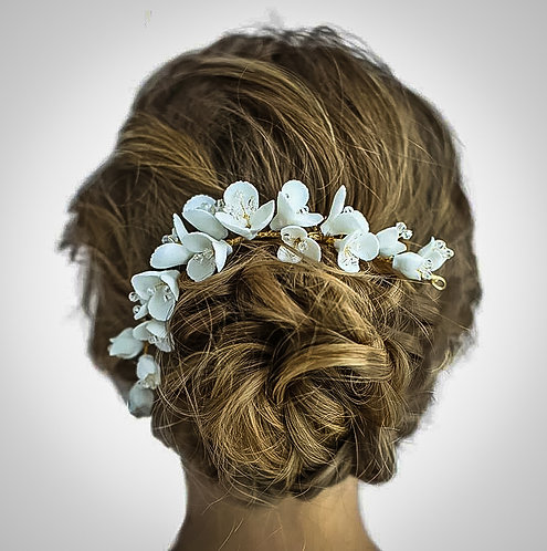 ATWOOD: Ceramic Floral Headpiece