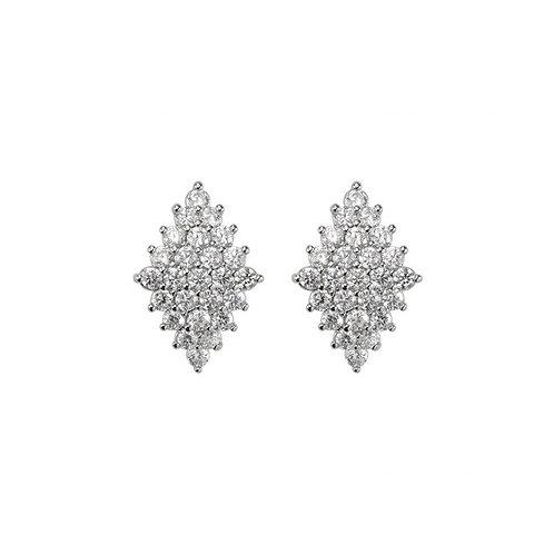 Peonies Noir Studs - Silver - Samantha Wills