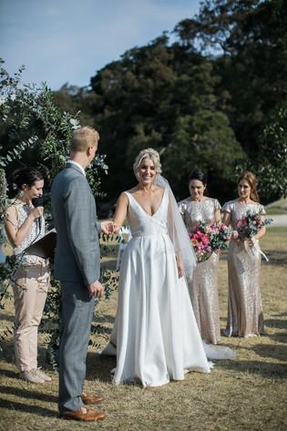 Jane wears Jennifer Go Bridal