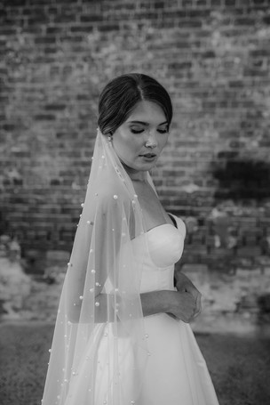 Cora with Pearl Veil