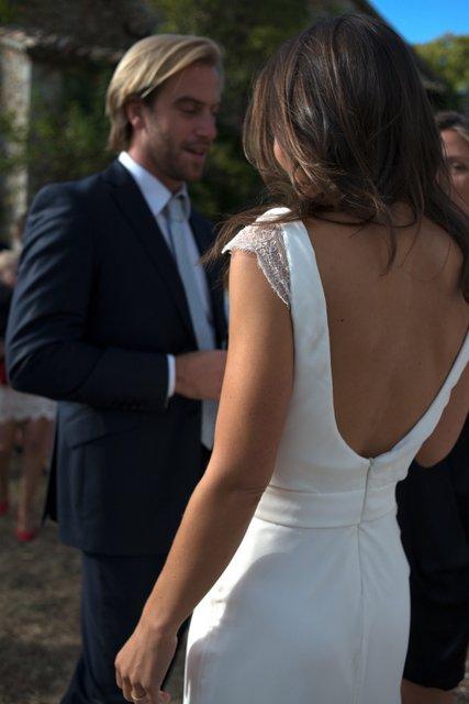 Verane in Custom Gown