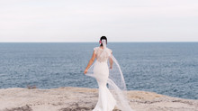 Real Bride Erin in Lauren Gown by Nicole Miller