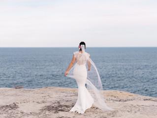 Real Bride Erin in Lauren Gown by Nicole Miller