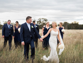 Real Bride Kate in the Giona gown by Jennifer Go Bridal