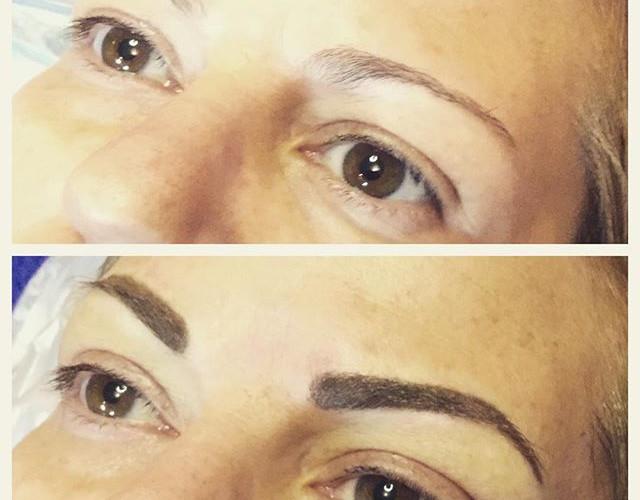 Before after eyebrow#eyebrow#permanentma