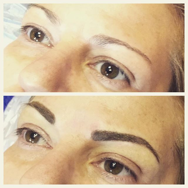 Before after eyebrow#eyebrow#permanentma
