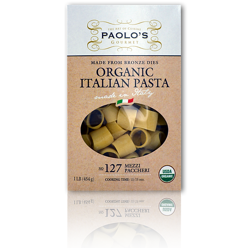 Organic Pasta Mezzi Paccheri Paolo's Gourmet #127