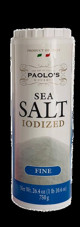 SEA SALT (FINE) ITALY  PAOLO  PK/SZ:  12/750 GR