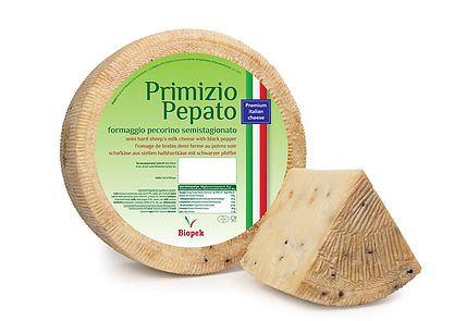 BIOPEK PECORINO SICILIANO PRIMIZIO W/BLACK PEPPER 8/3 LB