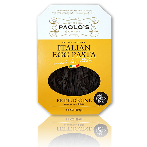 Squid Ink Fettucine Egg Pasta