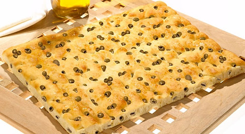 Forno D`Asolo Italian Focaccia Bread with Olives