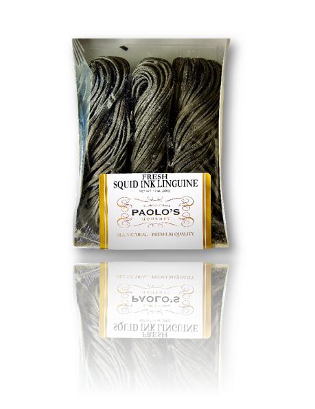 Linguine Squid Ink Paolos Fresh Pasta 12/13 oz