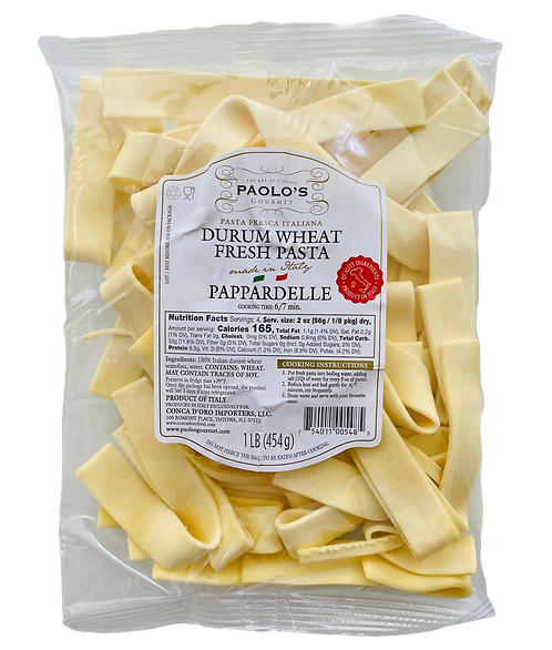 PAPPARDELLE FRESH REFRIGERATED PASTA PAOLO PK/SZ:10/1 LB
