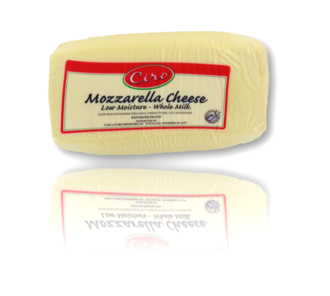 Mozzarella Cheese W/M CIRO 8/6 LB