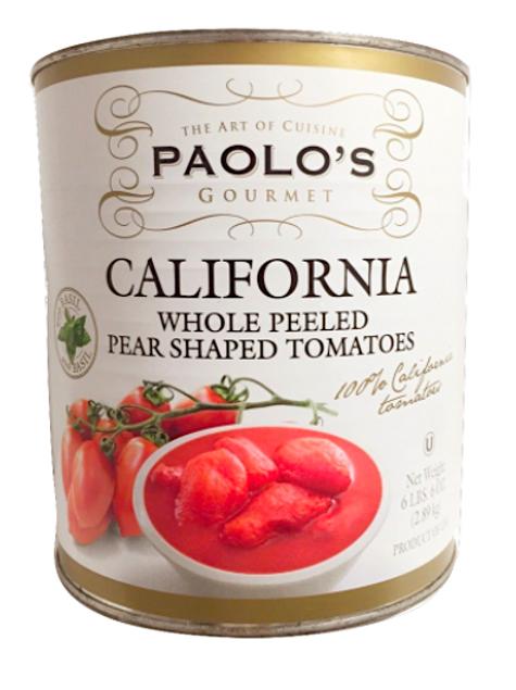 California Whole Peeled Pear Shaped Tomatoes