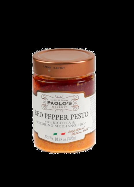 PESTO RED PEPPER W/RIC.SALATA&PECORINO PDO  PAOLO PK/SZ 6/10.58OZ