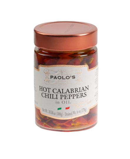 HOT CALABRIAN CHILI PEPPERS PAOLO PK/SZ:  6/1O.5 OZ