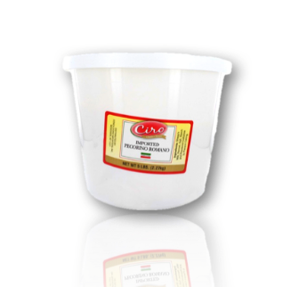 IMPORTED PECORINO ROMANO GRATED 4/5 LB TUB