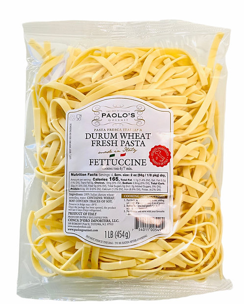 FETTUCCINE FRESH REFRIGERATED PASTA PAOLO PK/SZ:10/1 LB