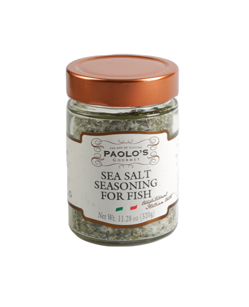 SEA SALT SEASONING FOR FISH PAOLO PK/SZ:  6/11.28OZ