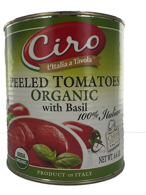 CIRO PEELED ORGANIC TOMATO WITH BASIL