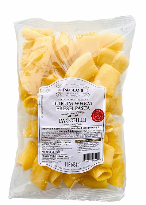 PACCHERI FRESH REFRIGERATED PASTA PAOLO PK/SZ:10/1 LB