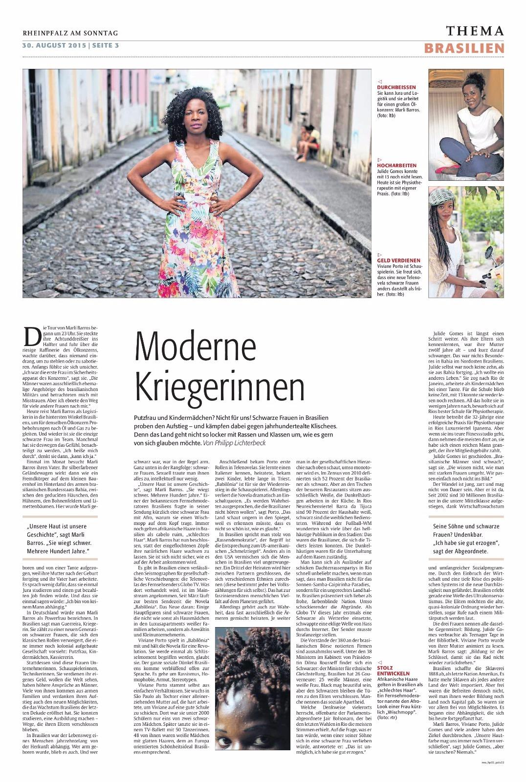 Jornal Rheinpfalz Alemanha pag 3