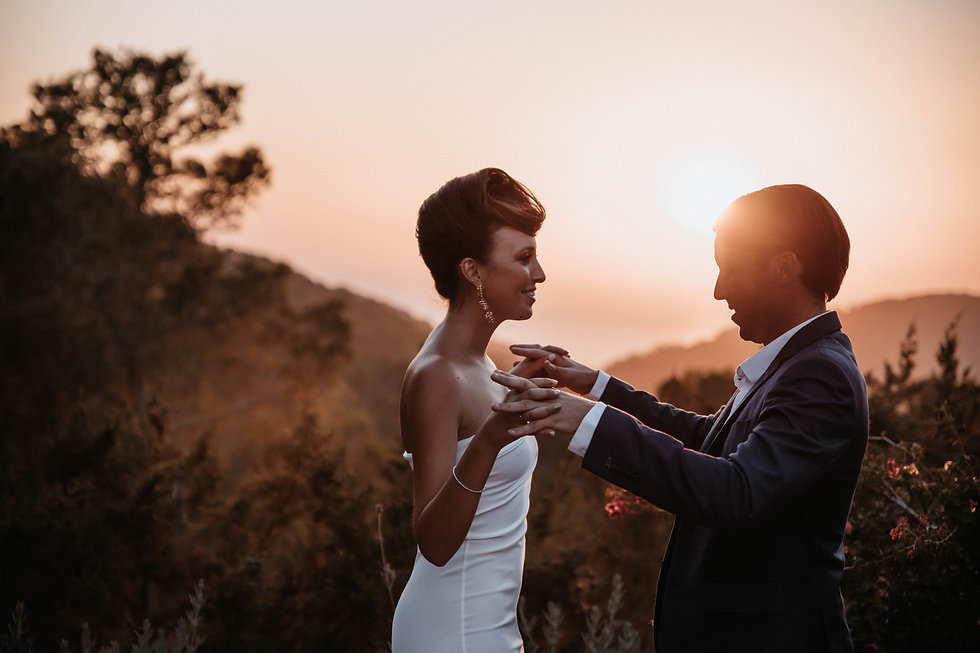 Ibiza wedding sunset couple photos
