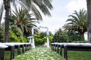 wedding ceremony set up decoration can gall ibiza wedding venue