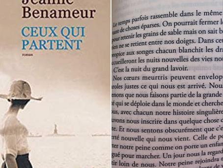 """""""Ceux qui partent"""" de Jeanne Benameur"""