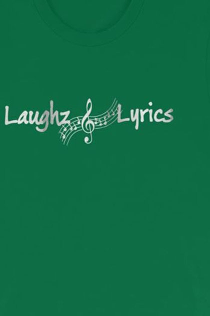 Silver Vinyl Laughz and Lyrics shirt