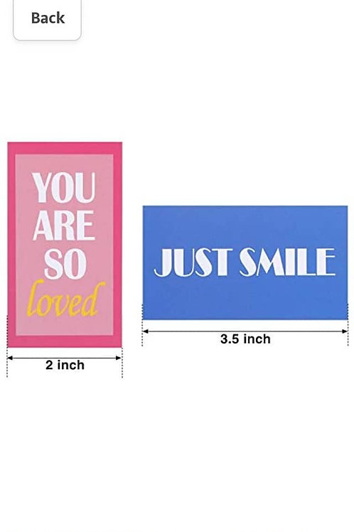 1- 10 pack of smiley cards