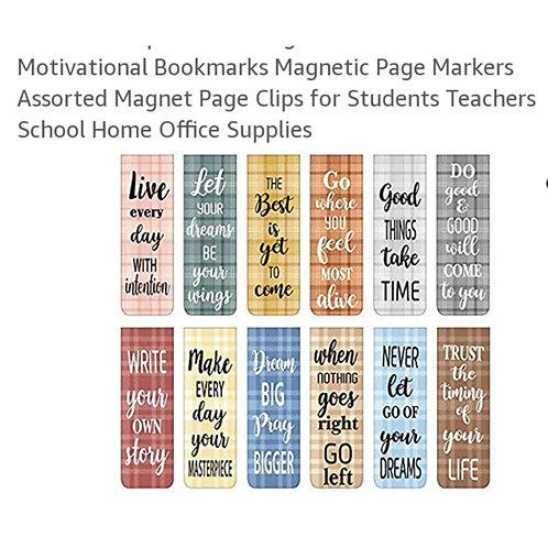 Inspirational Bookmarks- 12