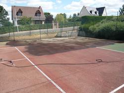 Nettoyage terrain de tennis