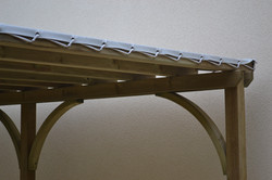 Toile PVC sur pergola bois