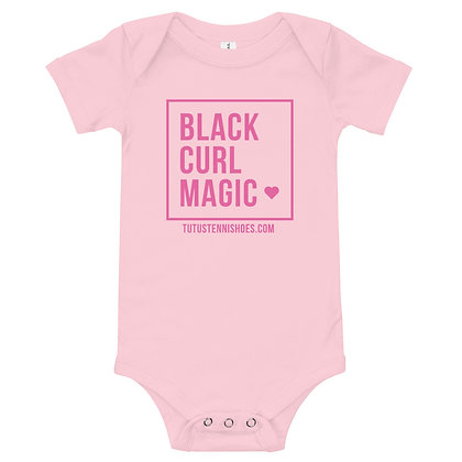 Black CURL Magic Baby Bodysuit