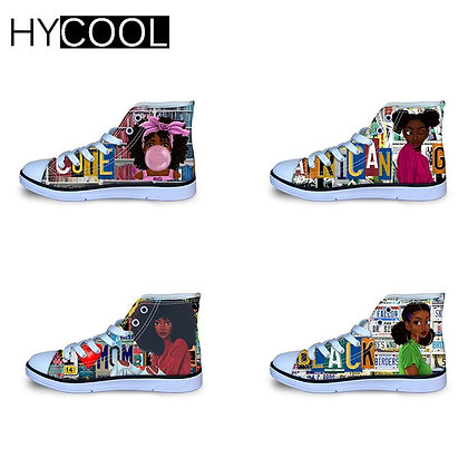 Afro Proud Child High Tops Canvas Shoes