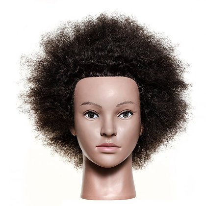 Afro Mannequin Head Human Hair