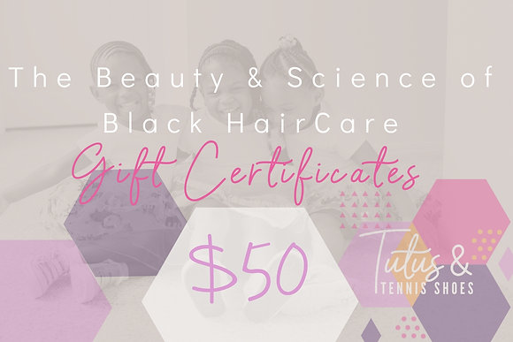 $50 Course Gift Certificate