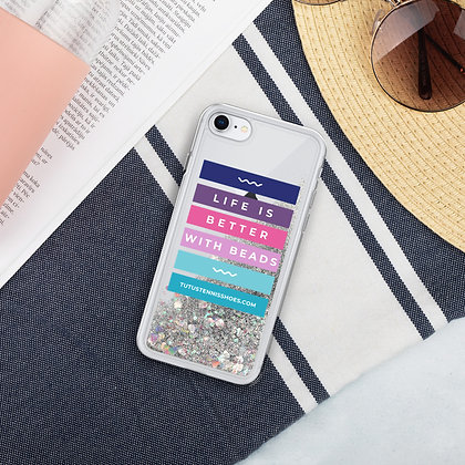 Life is Better with Beads Liquid Glitter Phone Case