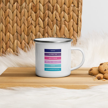 Life is Better with Beads Enamel Mug