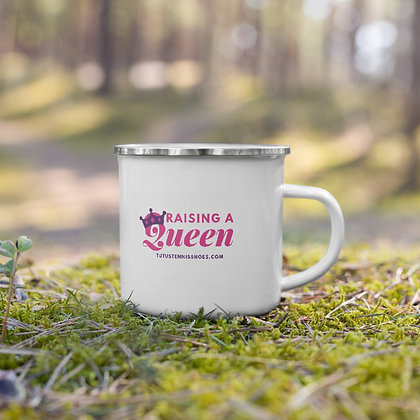 Raising a Queen Enamel Mug