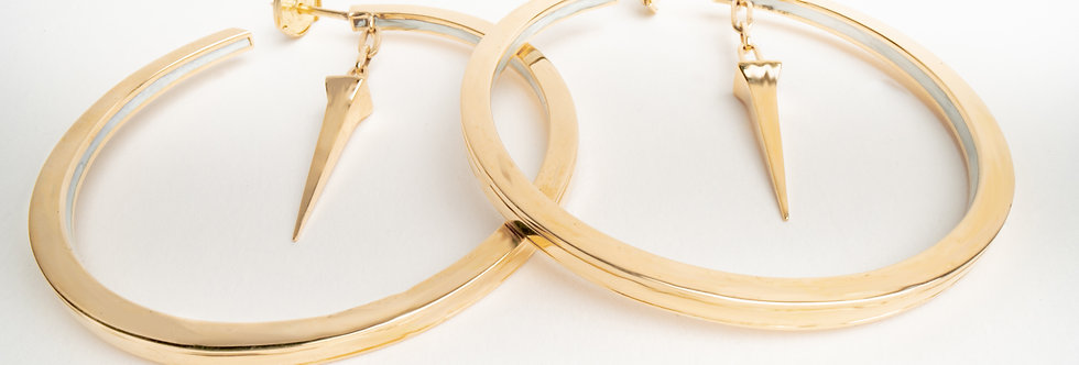 45 mm Gold Hoops