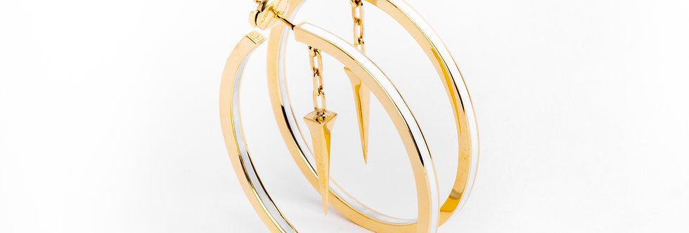 45 mm Gold Hoops with Enamel
