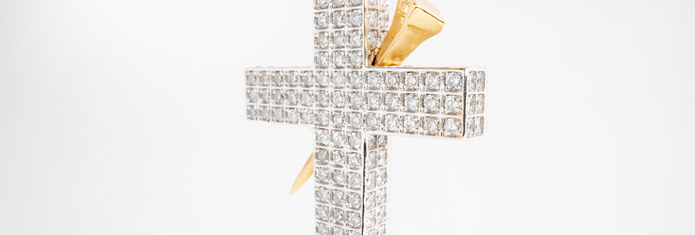 Diamond Pave Cross with Spike