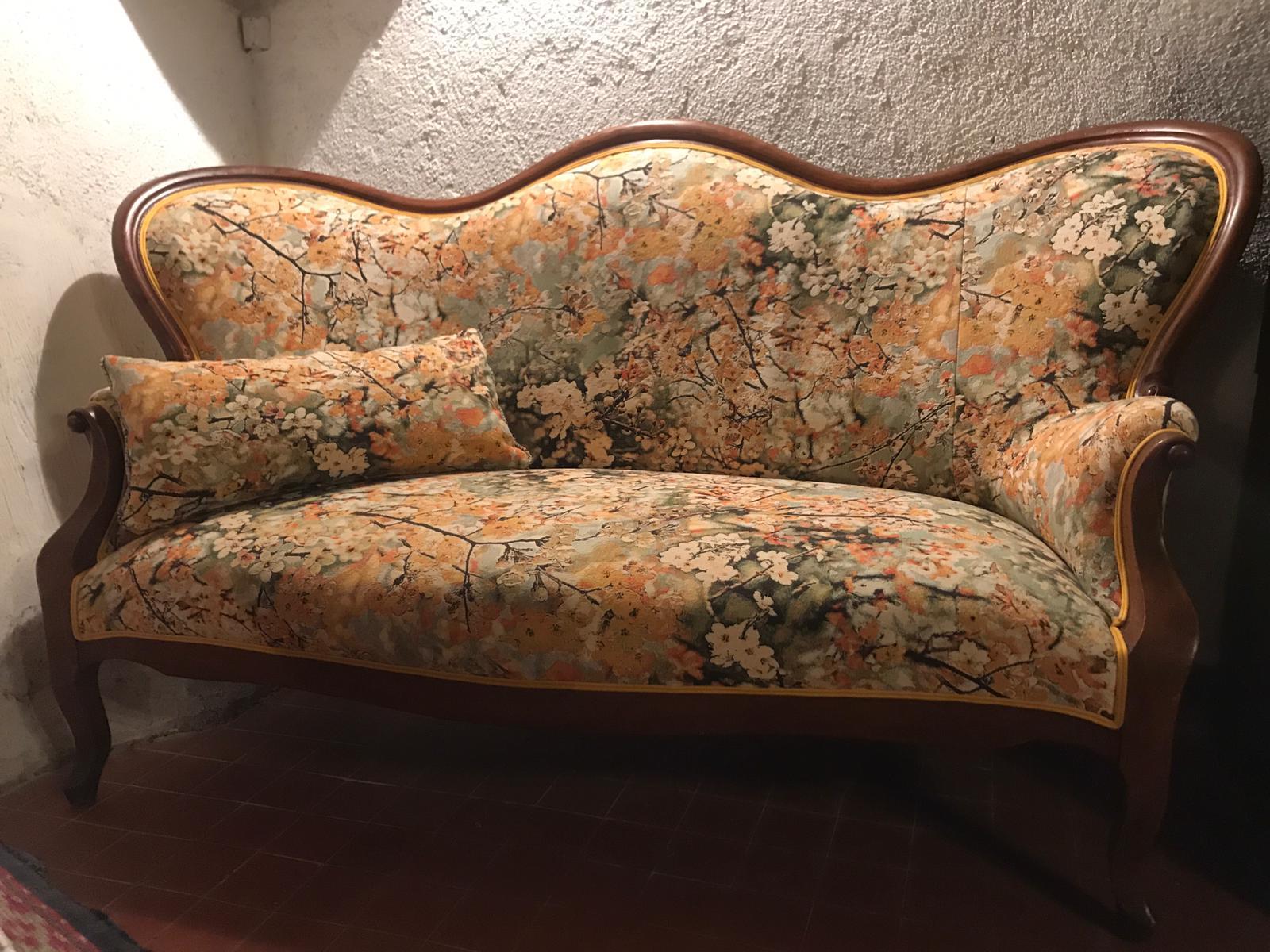Canapé XIXeme - Choix d'un tissu floral