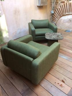 Superbe paire de fauteuils années 50