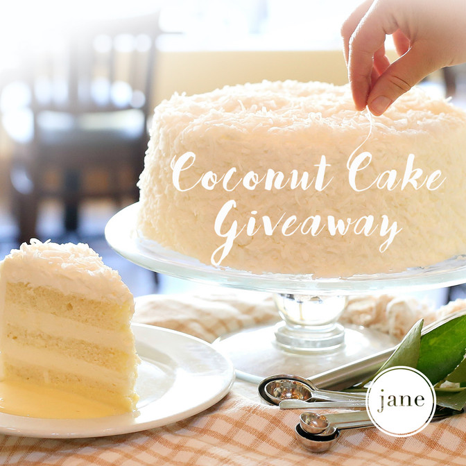 Coconut Cake Giveaway